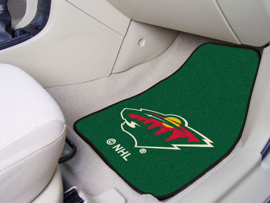 Minnesota Wild Car Floor Mats 18 x 27 Carpeted-Pair