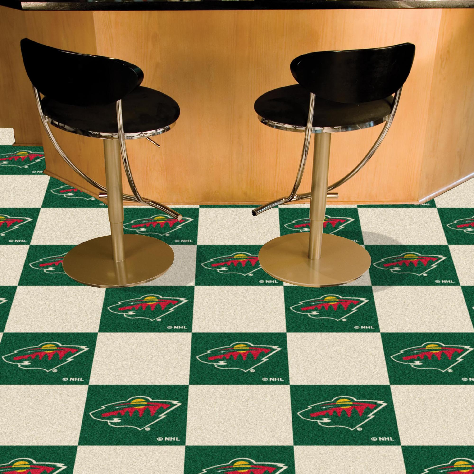 Minnesota Wild Carpet Tiles 18x18 in.