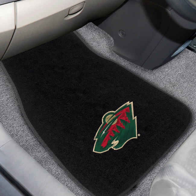 Minnesota Wild Car Floor Mats 17 x 26 Embroidered Pair
