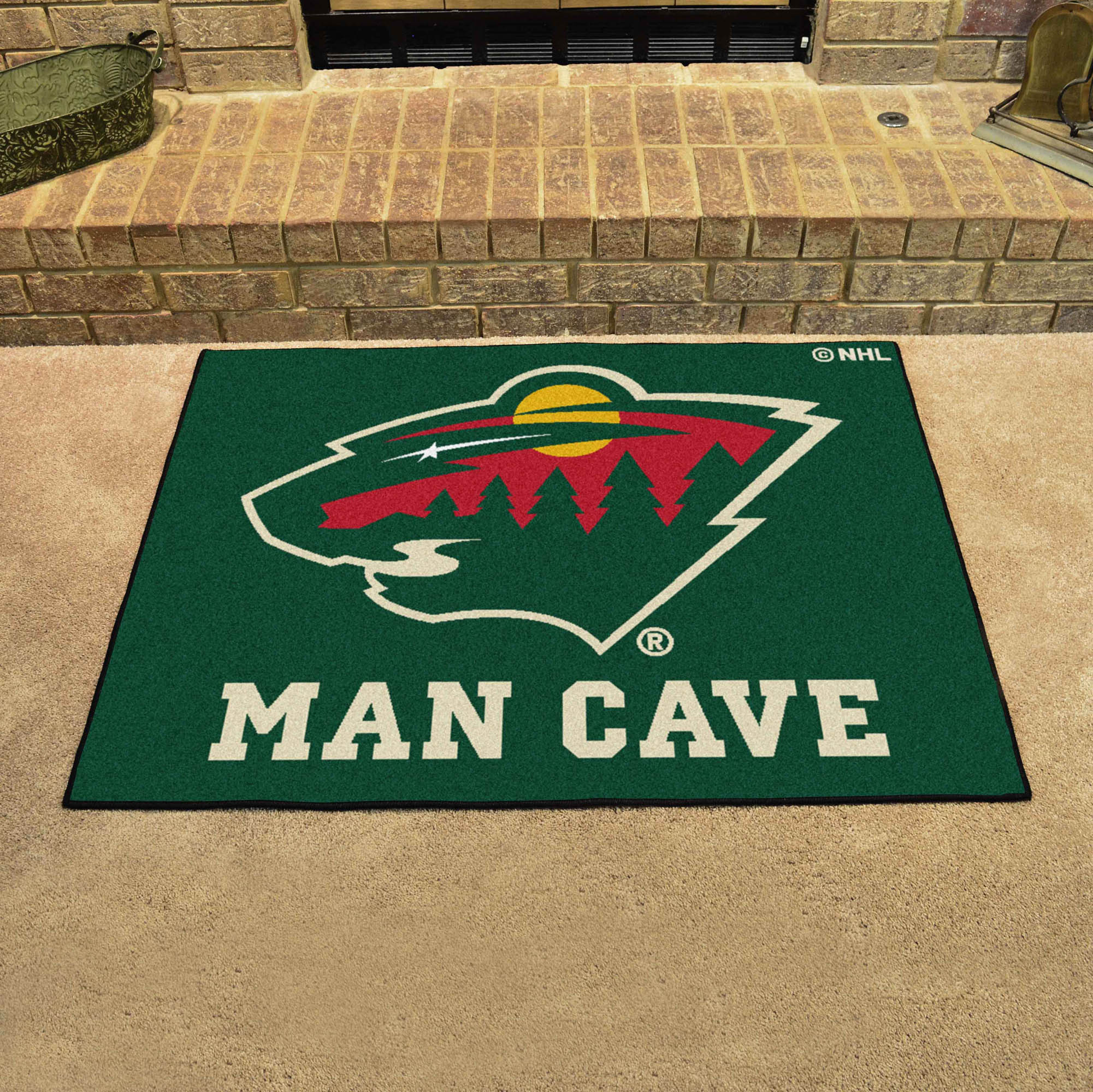 Minnesota Wild ALL STAR 34 x 45 MAN CAVE Floor Mat
