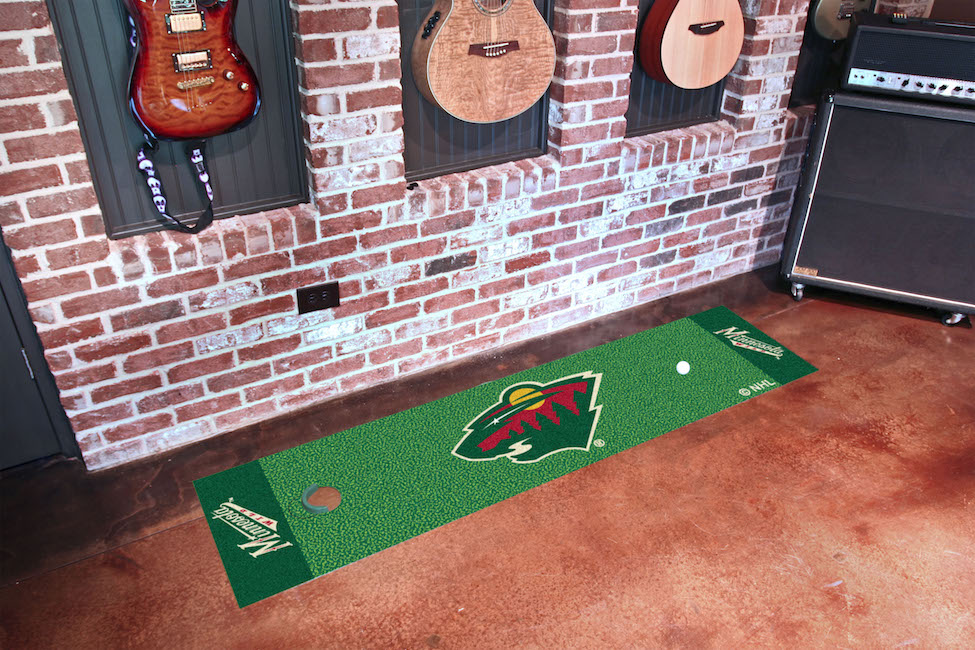 Minnesota Wild Putting Green Mat 18 x 72