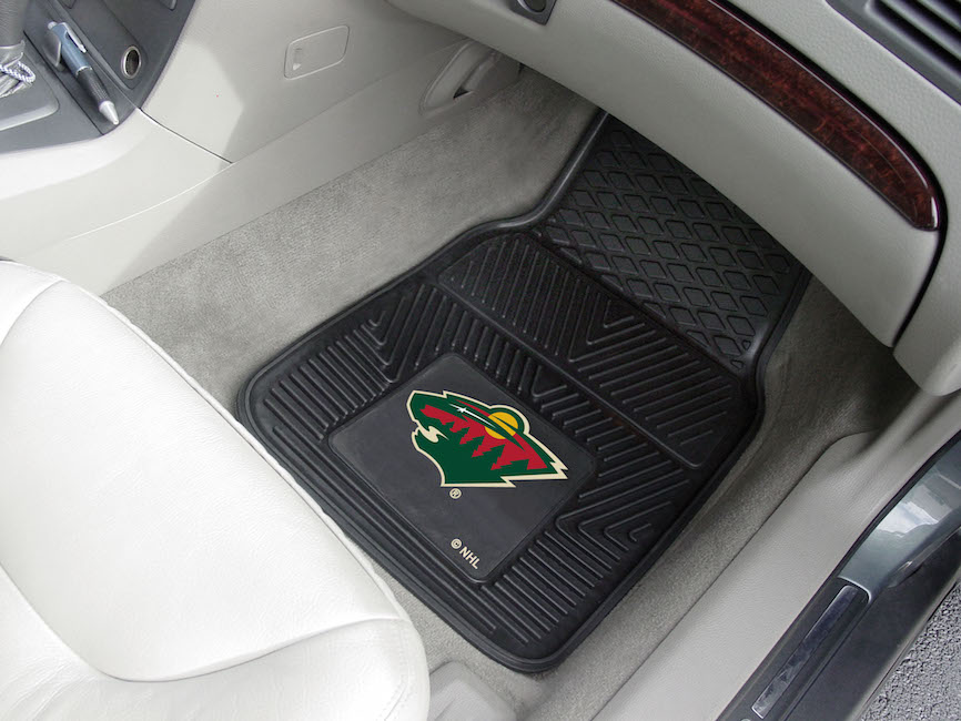Minnesota Wild Car Floor Mats 18 x 27 Heavy Duty Vinyl Pair