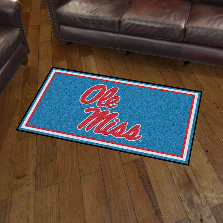 Mississippi Rebels 3x5 Area Rug