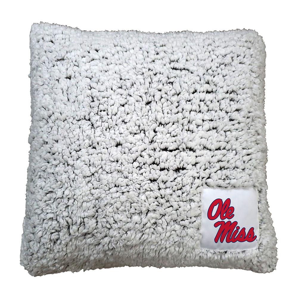 Mississippi Rebels Frosty Throw Pillow