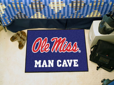 Mississippi Rebels MAN CAVE 20 x 30 STARTER Floor Mat