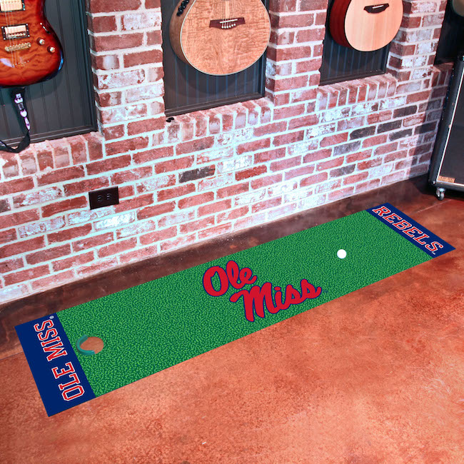 Mississippi Rebels Putting Green Mat 18 x 72
