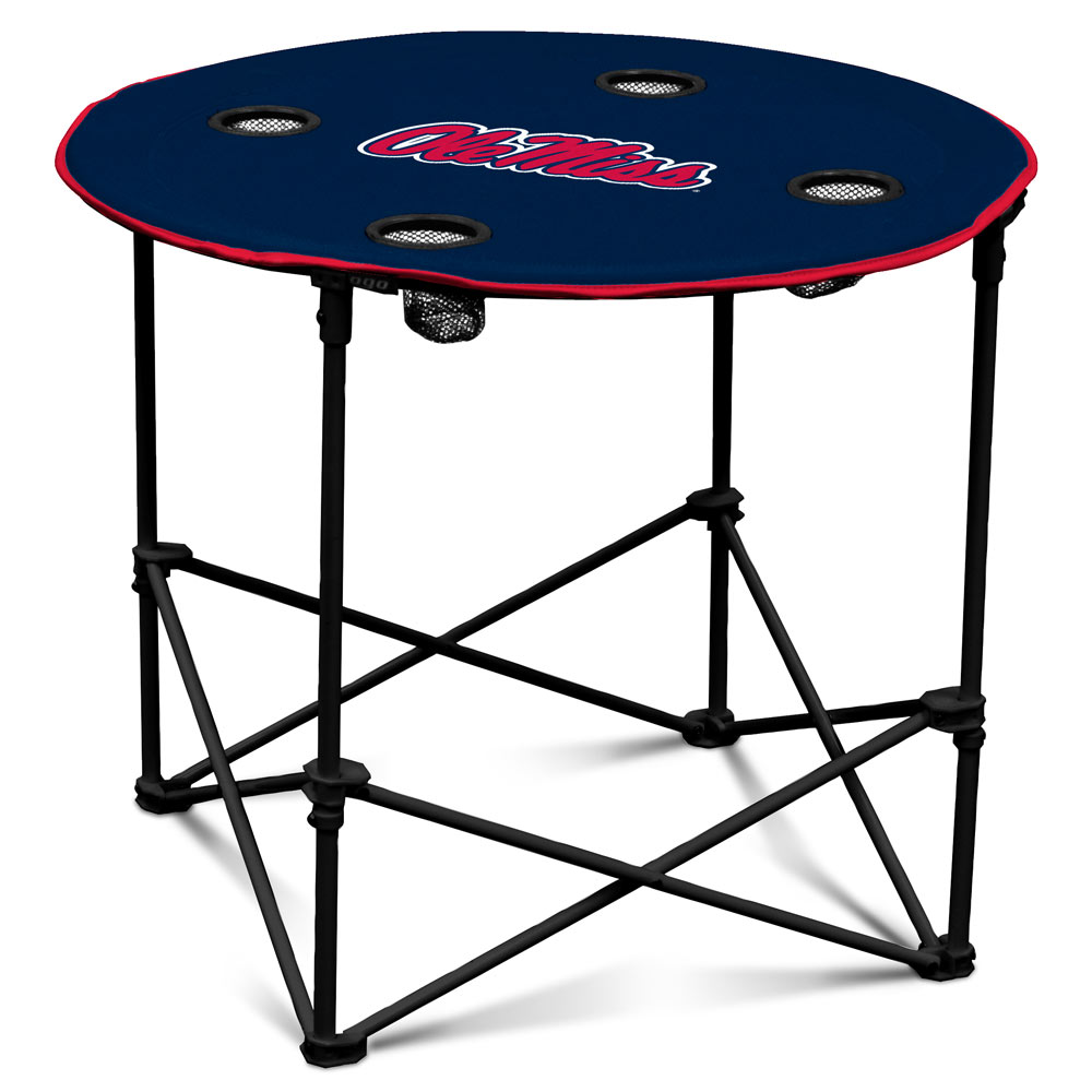 Mississippi Rebels Round Tailgate Table