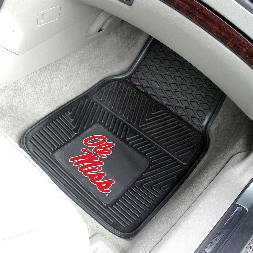 Mississippi Rebels Car Floor Mats 18 x 27 Heavy Duty Vinyl Pair