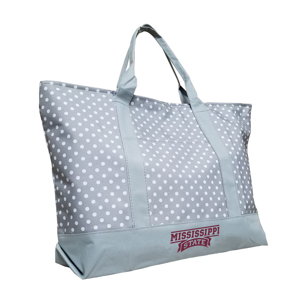 Mississippi State Bulldogs Dot Tote Bag