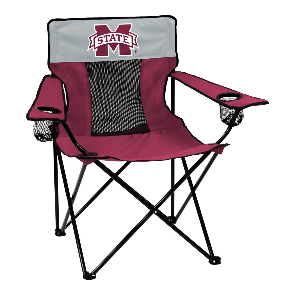 Mississippi State Bulldogs ELITE logo folding camp style chair