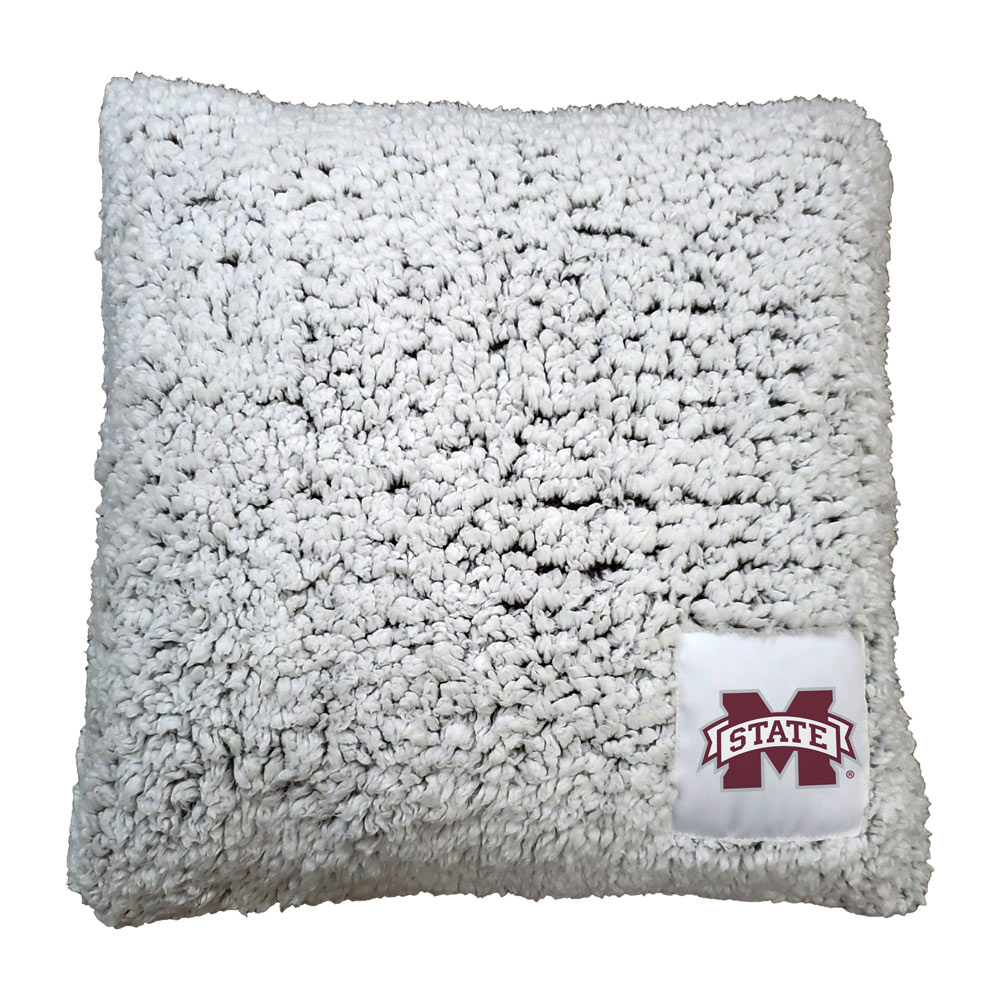 Mississippi State Bulldogs Frosty Throw Pillow
