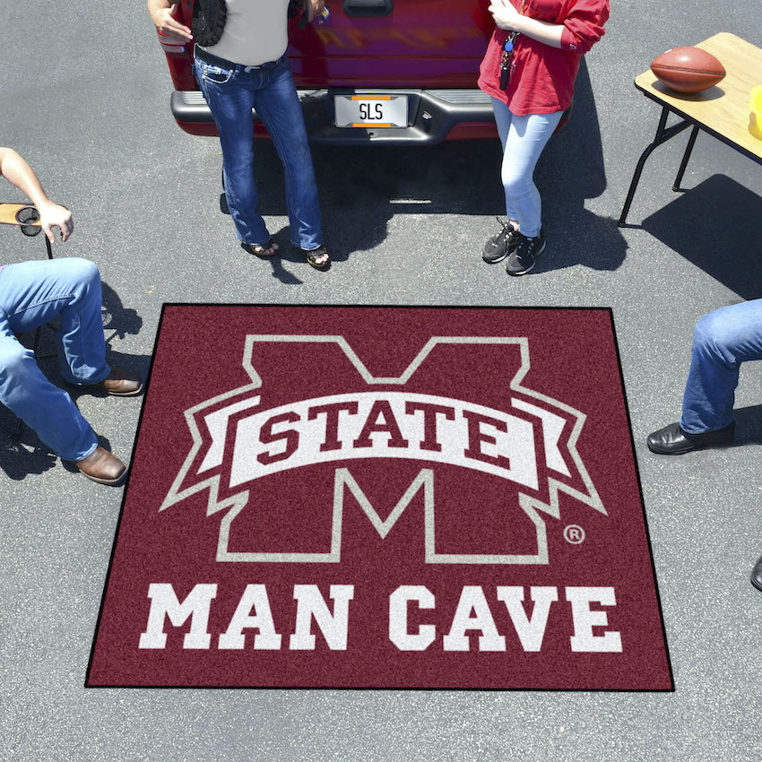 Mississippi State Bulldogs MAN CAVE TAILGATER 60 x 72 Rug