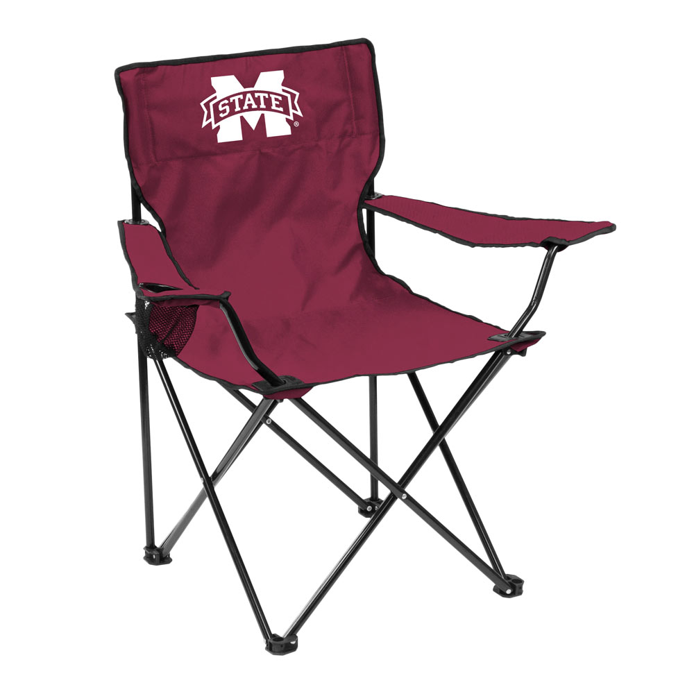 Mississippi State Bulldogs QUAD style logo folding camp chair