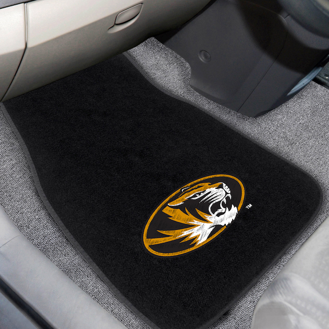 Missouri Tigers Car Floor Mats 17 x 26 Embroidered Pair