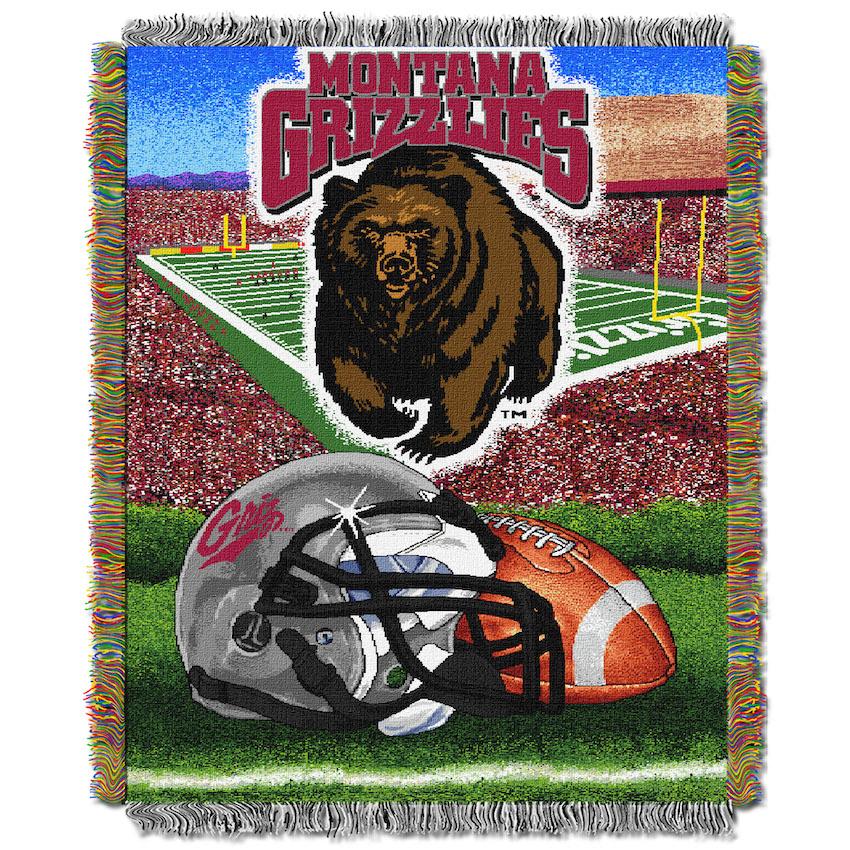 Montana Grizzlies Home Field Advantage Series Tapestry Blanket 48 x 60
