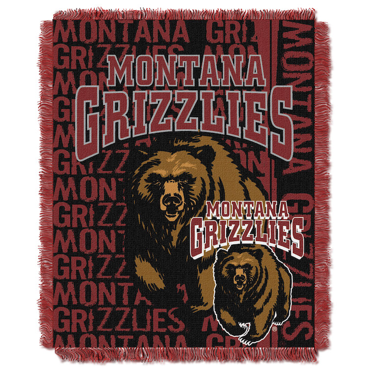 Montana Grizzlies Double Play Tapestry Blanket 48 x 60