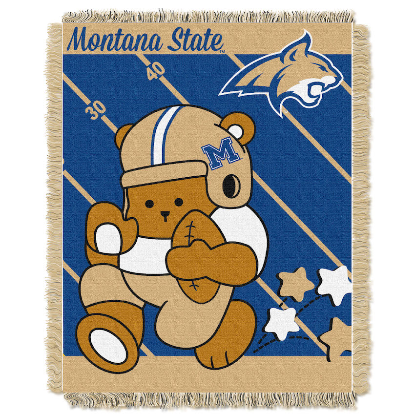 Montana State Bobcats Woven Baby Blanket 36 x 48