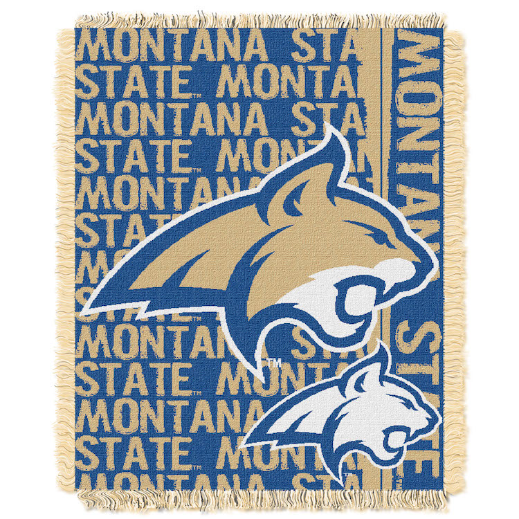 Montana State Bobcats Double Play Tapestry Blanket 48 x 60
