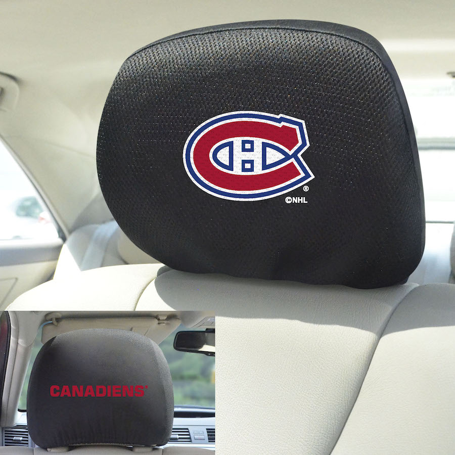 Montreal Canadiens Head Rest Covers