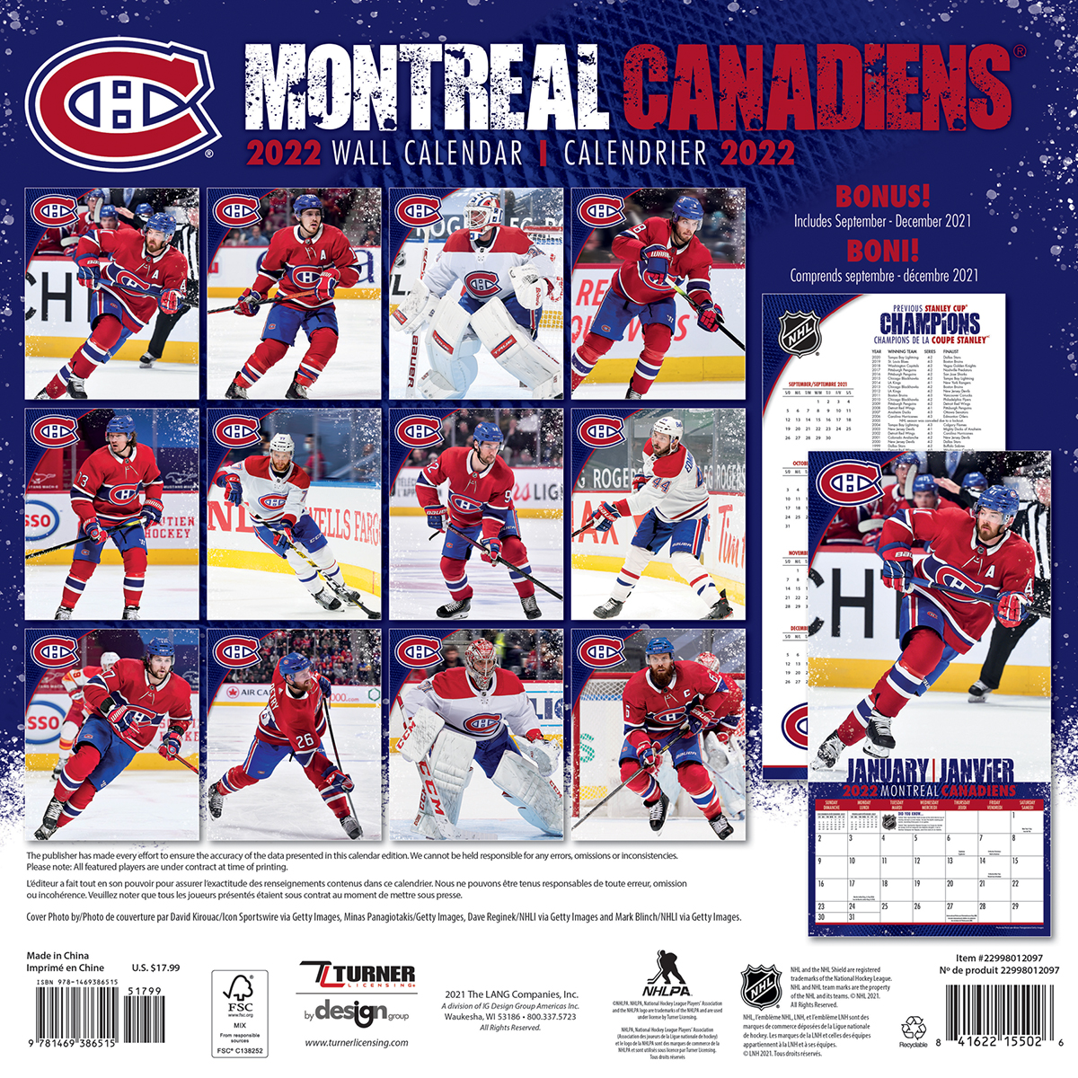 Montreal Canadiens 2021 Mini Wall Calendar Buy At Khc Sports