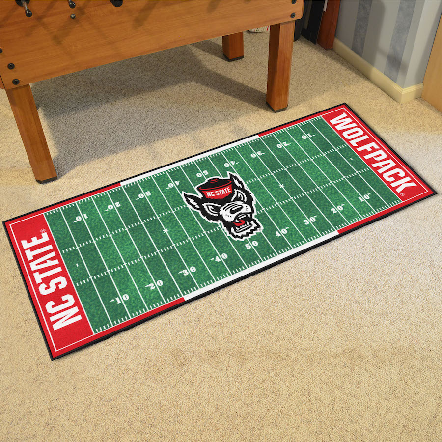 NC State Wolfpack 30 x 72 Football Field Carpet Runner