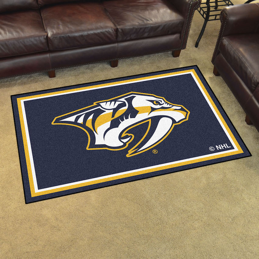 Nashville Predators 4x6 Area Rug