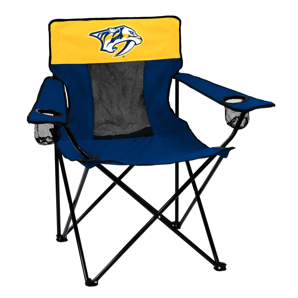 Nashville Predators ELITE logo folding camp style chair
