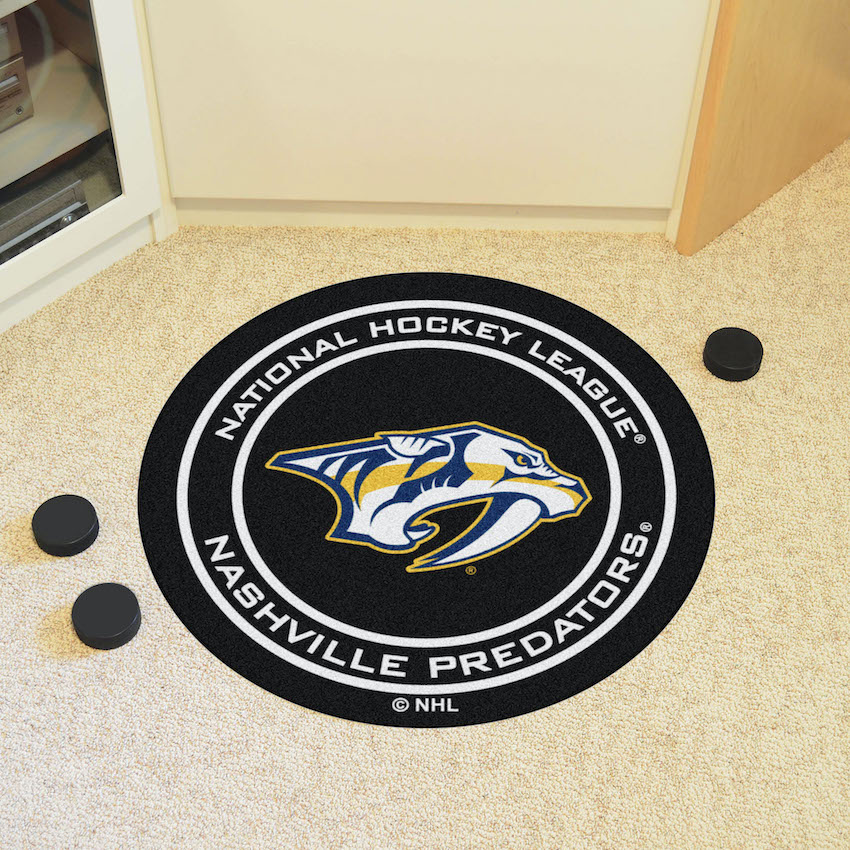 Nashville Predators Round Hockey Puck Mat
