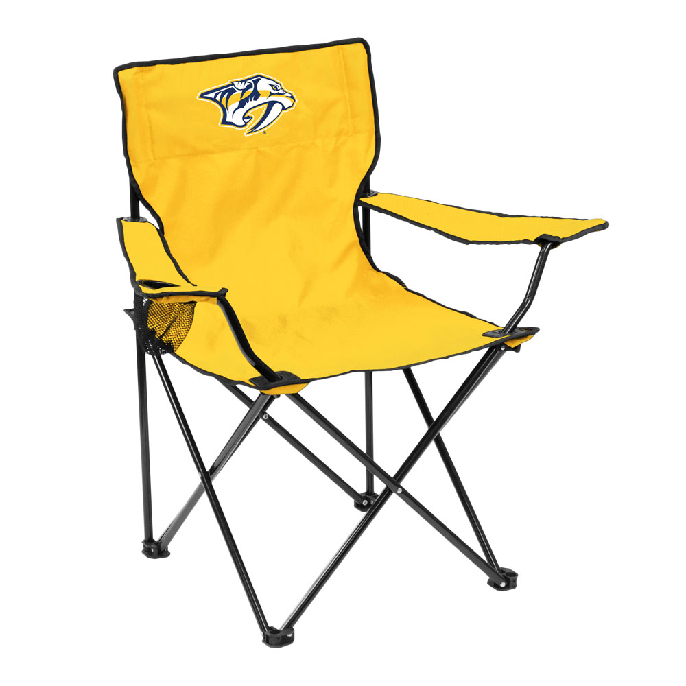 Nashville Predators QUAD style logo folding camp chair