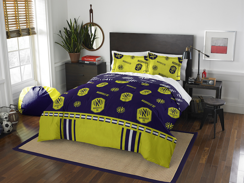 Nashville SC QUEEN/FULL size Comforter and 2 Shams