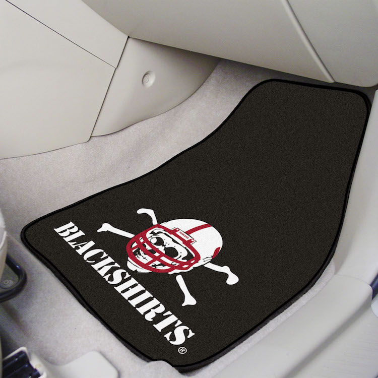 Nebraska Cornhuskers BLACKSHIRTS Car Floor Mats 18 x 27 Carpeted-Pair