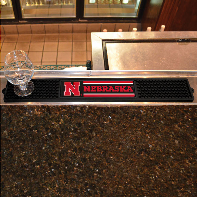 Nebraska Cornhuskers Bar Drink Mat