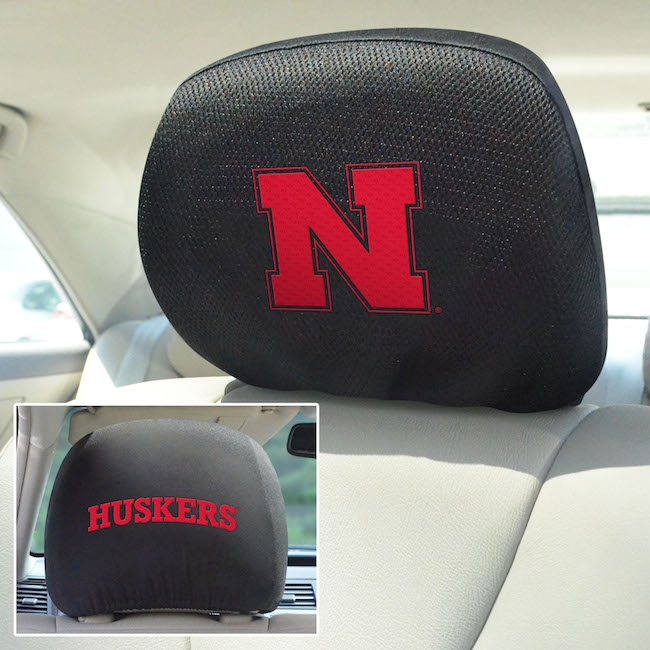 Nebraska Cornhuskers Head Rest Covers