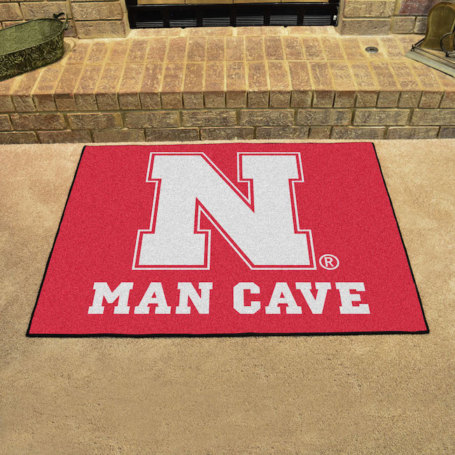 Nebraska Cornhuskers ALL STAR 34 x 45 MAN CAVE Floor Mat
