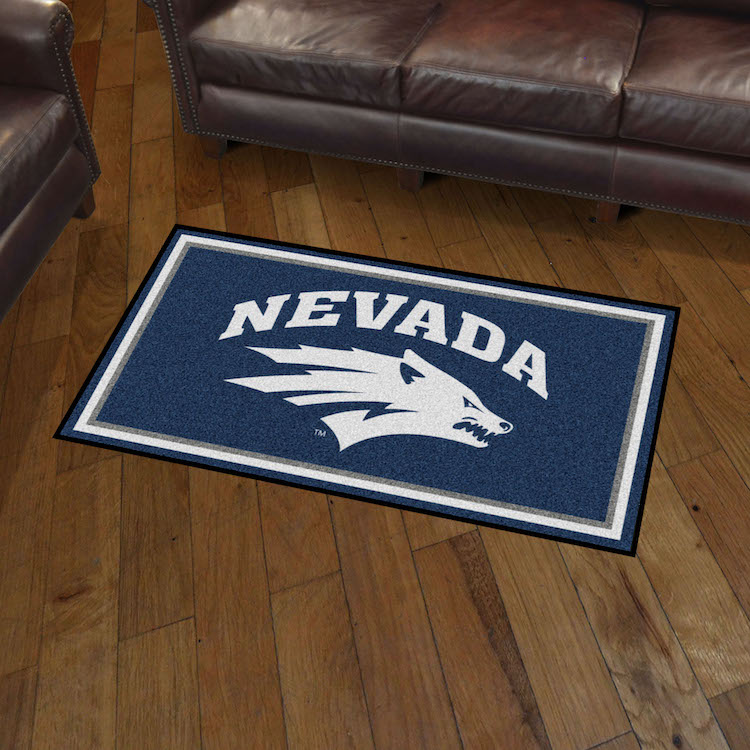 Nevada Wolfpack 3x5 Area Rug