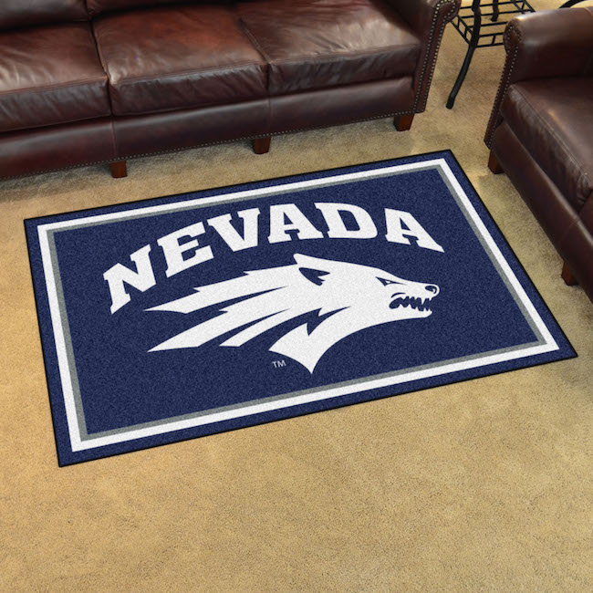 Nevada Wolfpack 4x6 Area Rug