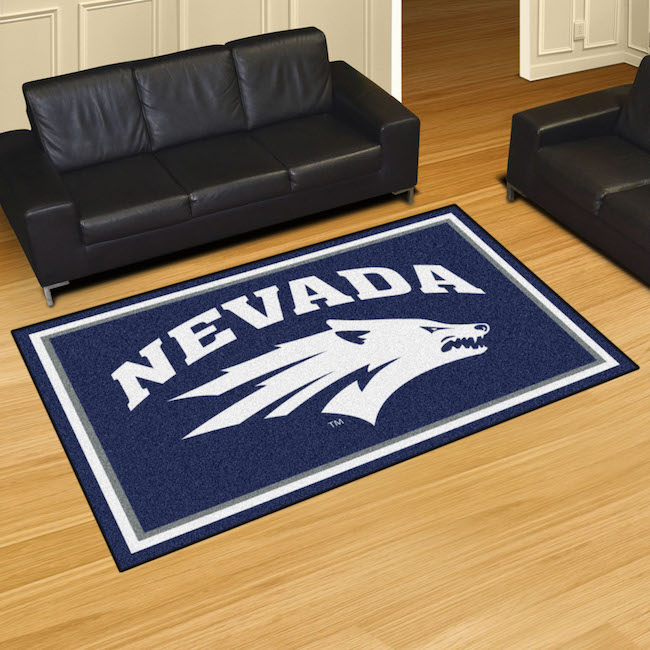 Nevada Wolfpack 5x8 Area Rug