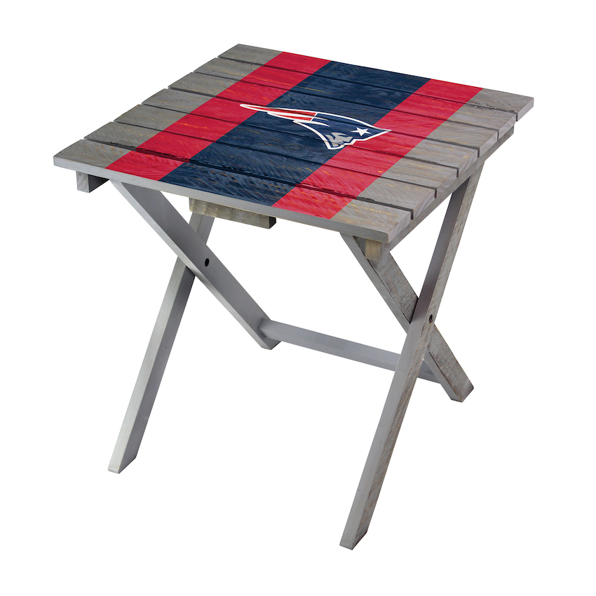 New England Patriots Wooden Adirondack Folding Table
