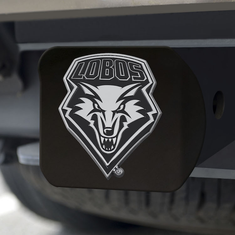 New Mexico Lobos BLACK Trailer Hitch Cover