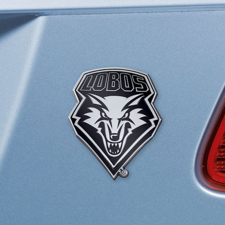 New Mexico Lobos Metal Auto Emblem