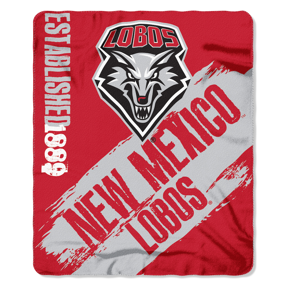 New Mexico Lobos Fleece Throw Blanket 50 x 60