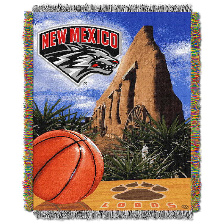 New Mexico Lobos Home Field Advantage Series Tapestry Blanket 48 x 60