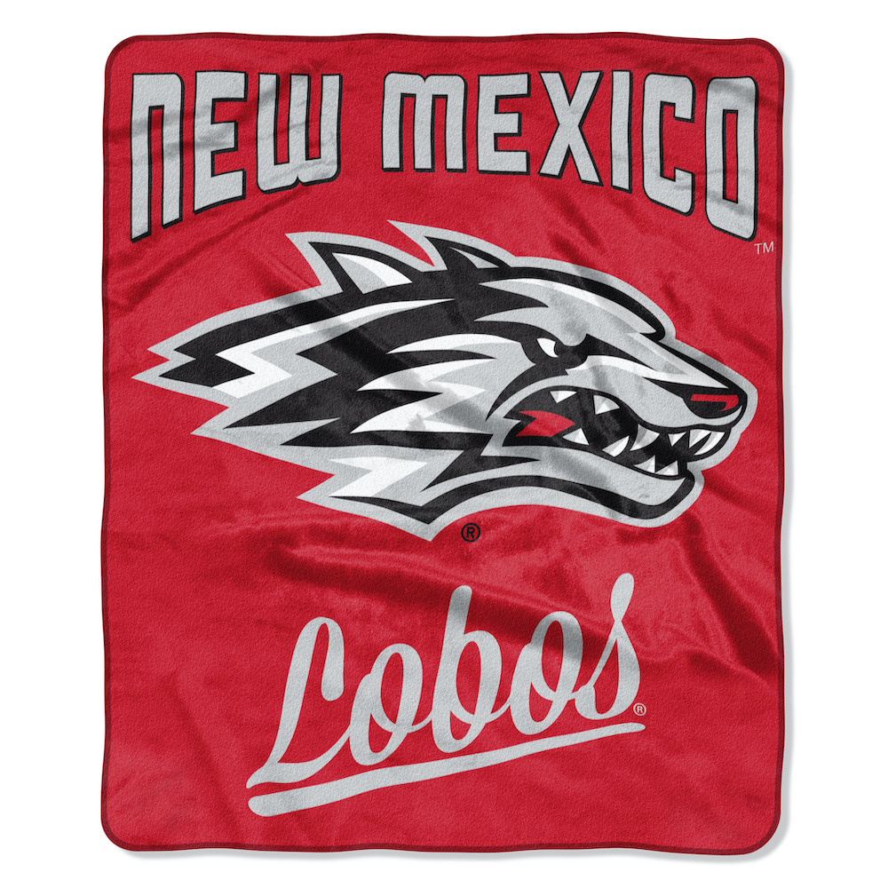New Mexico Lobos Plush Fleece Raschel Blanket 50 x 60