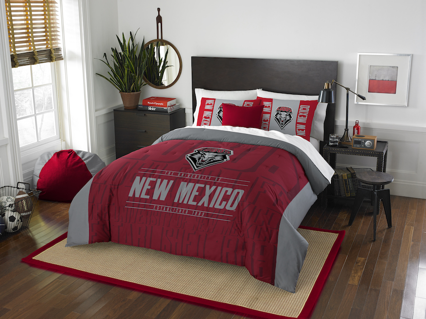 New Mexico Lobos QUEEN/FULL size Comforter and 2 Shams