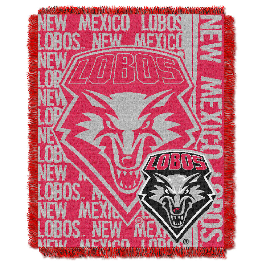 New Mexico Lobos Double Play Tapestry Blanket 48 x 60