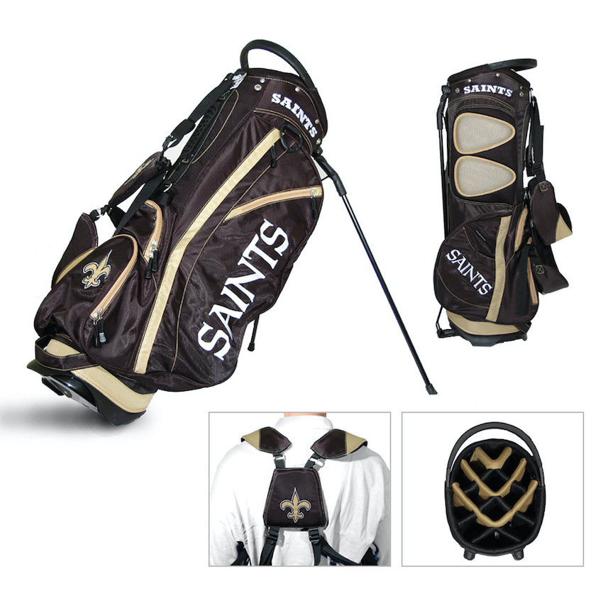 New Orleans Saints Fairway Carry Stand Golf Bag