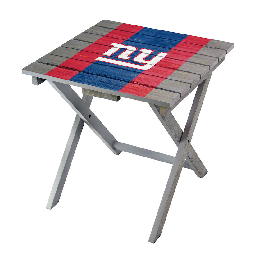 New York Giants Wooden Adirondack Folding Table