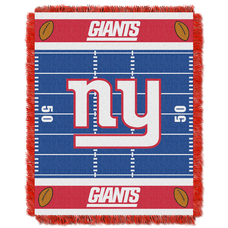 New York Giants Woven Baby Blanket 36 x 48