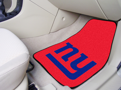 New York Giants Car Floor Mats 18 x 27 Carpeted-Pair