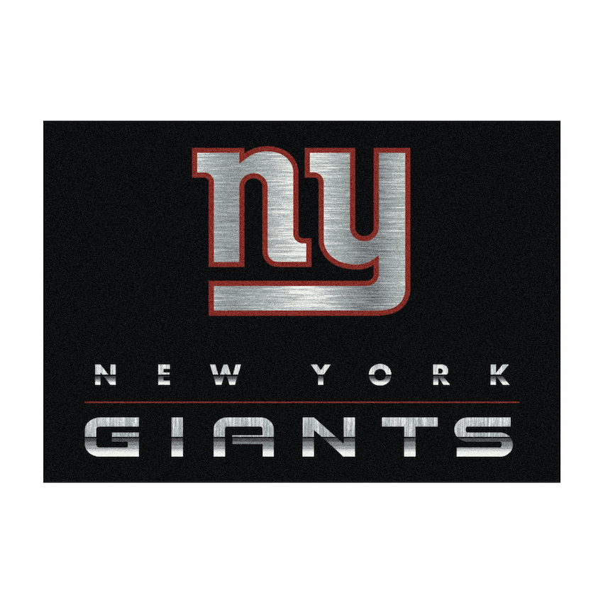 New York Giants 4 X 6 CHROME Rug